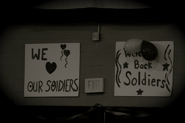 Welcome Home Soldiers Print by Aimee Galicia Torres
