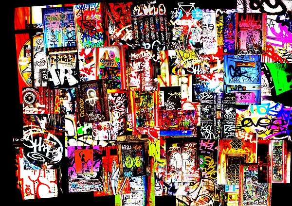 Welcome To Barcelona Graffiti Nirvana Print by Funkpix Photo Hunter