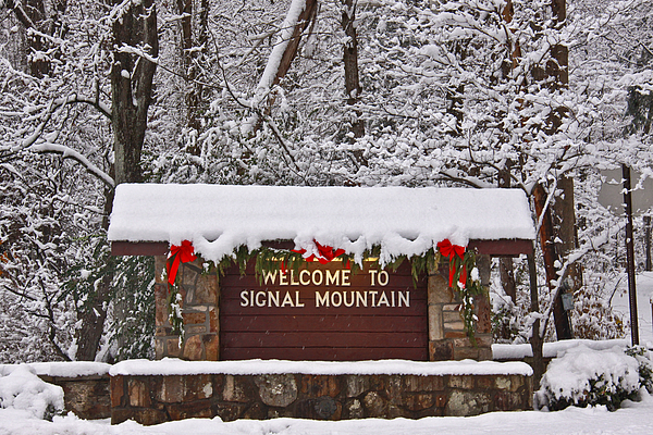 Welcome To Signal Mountain Print by Tom and Pat Cory