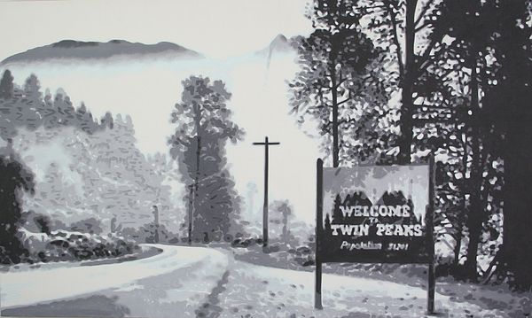 Welcome To Twin Peaks Print by Ludzska
