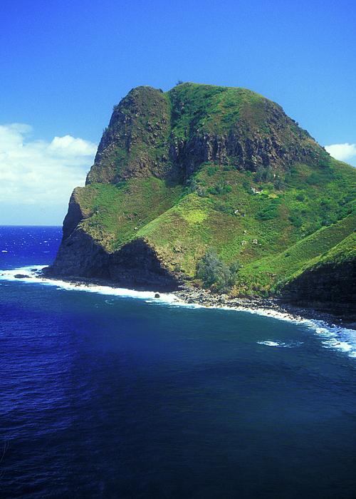 West Maui Ocean Cliff Print by John Burk