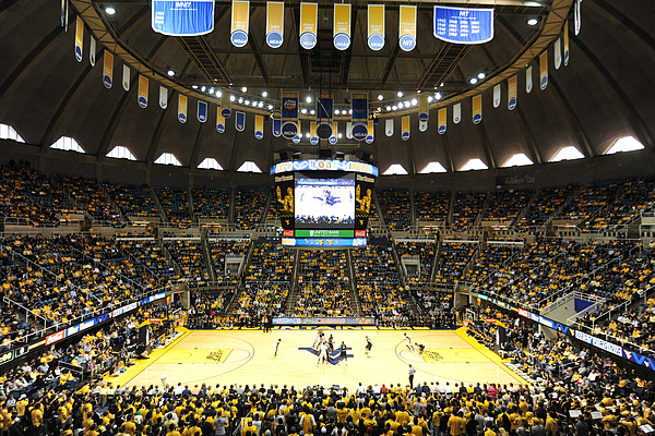 West Virginia Mountaineers Wvu Coliseum Print by Replay Photos