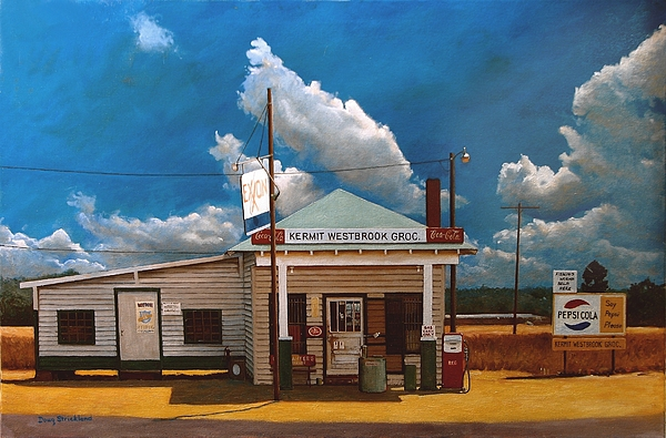 Westbrook Country Store Print by Doug Strickland