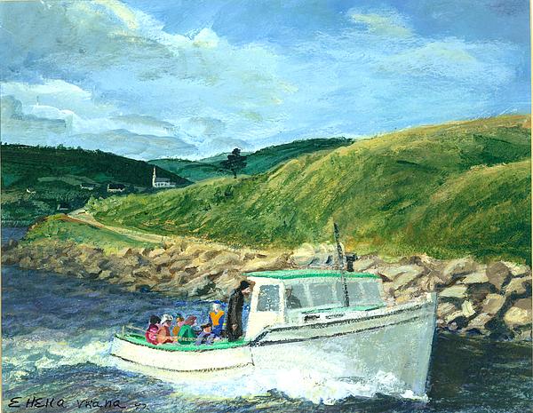 Whale Watching  Nova Scotia Print by Ethel Vrana