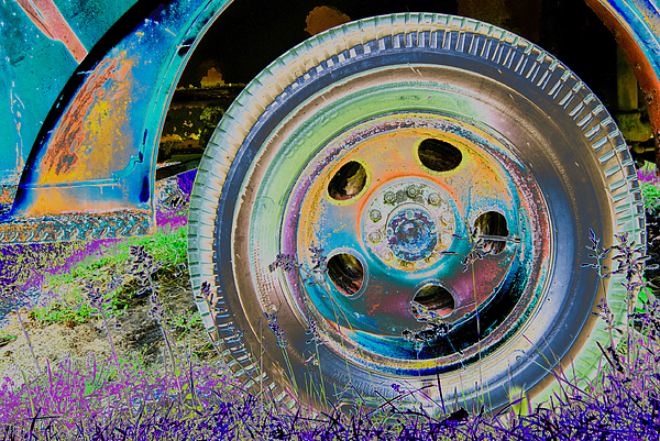 Wheel Print by Julie Niemela