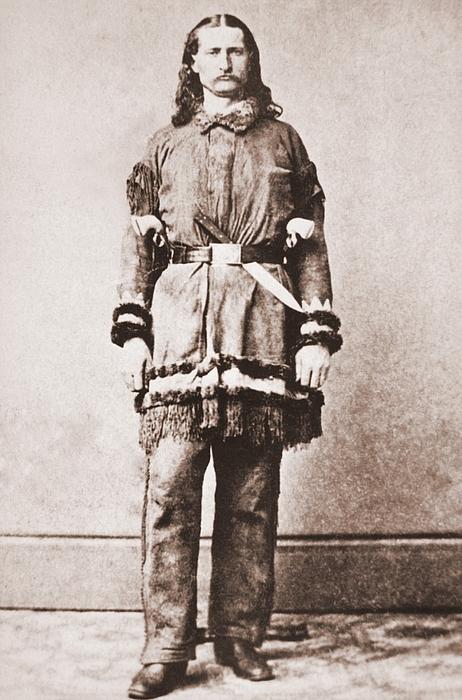 Wild Bill Hickok Portrait In Buckskins Print by Everett