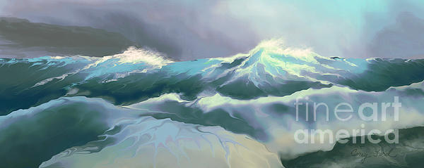 Wild Sea Print by Corey Ford