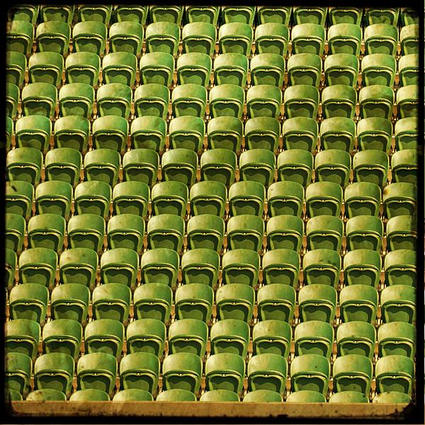 Wimbledon Seats Print by Sonia Stewart