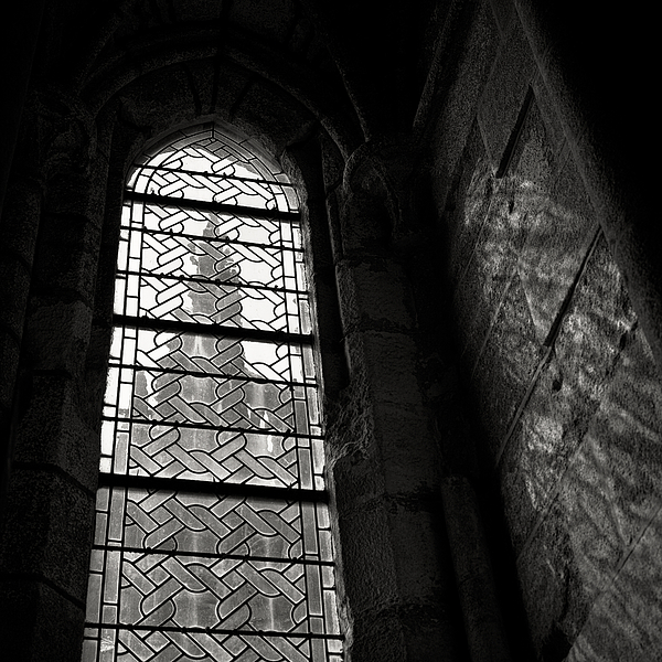 Window To Mont St Michel Print by Dave Bowman