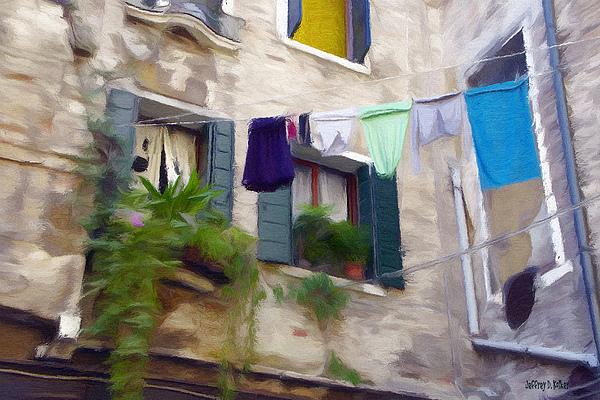 Windows Of Venice Print by Jeff Kolker