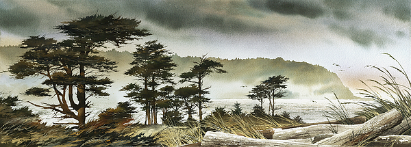Windswept Shore Print by James Williamson