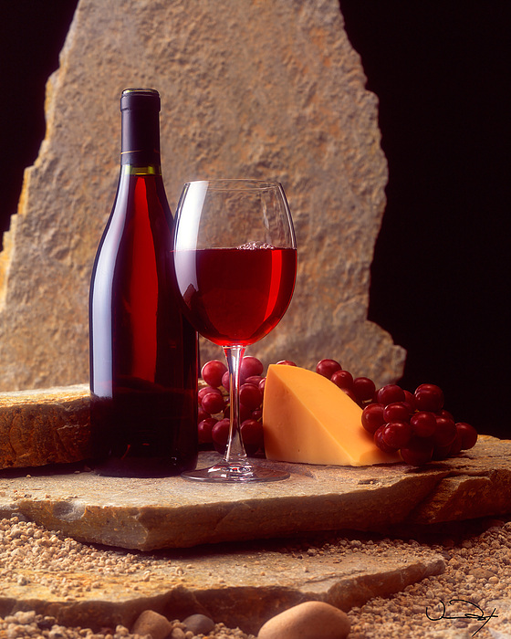 Wine And Cheese by Vance Fox Wine And Cheese Art