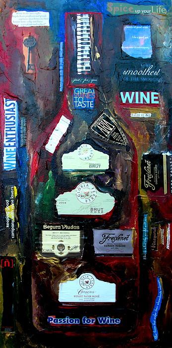 Wine Enthusiast Print by Patti Schermerhorn