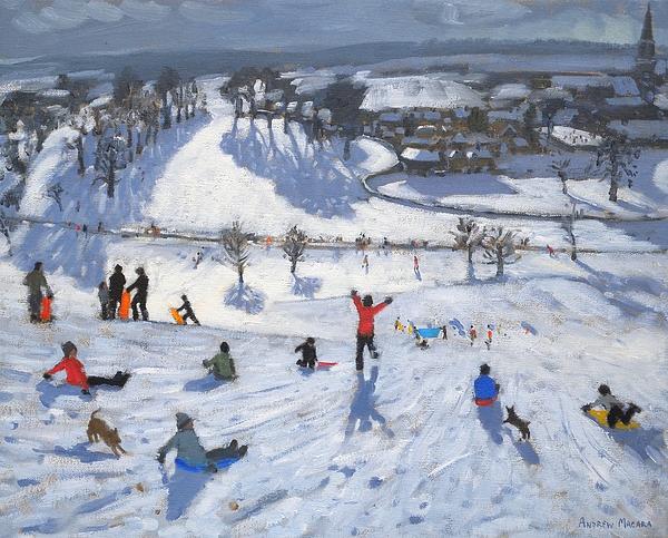 Winter Fun Print by Andrew Macara