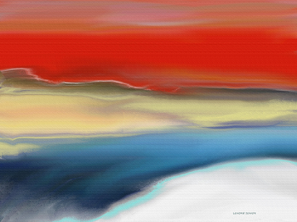 Lenore Senior - Winter Landscape with Sunset