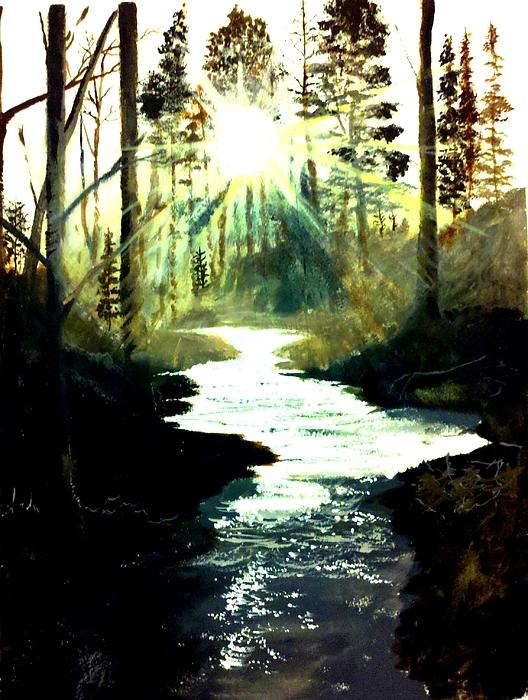 Winter Over Almond Creek Print by Travis  Ragan