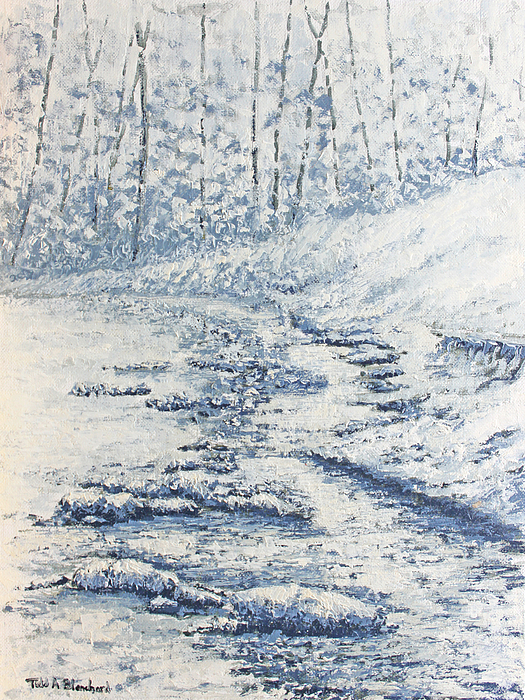 Winter River II Print by Todd A Blanchard