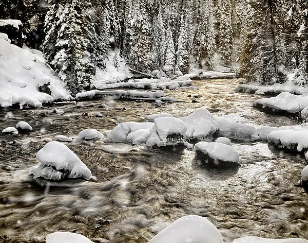 Winter River Print by Leland D Howard