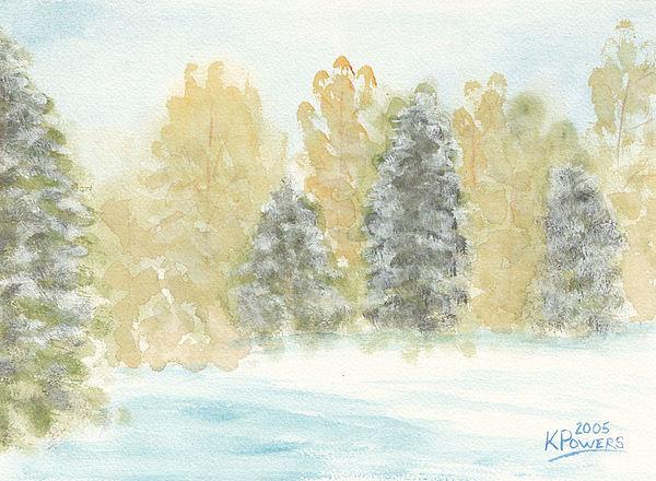 Winter Trees Print by Ken Powers