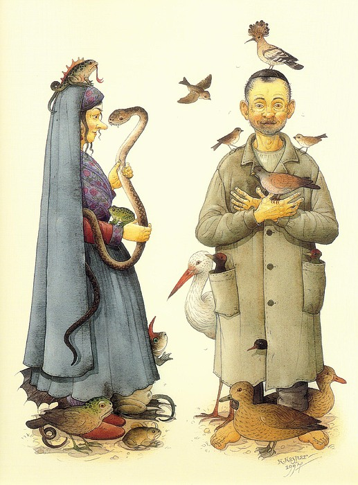Witch Print by Kestutis Kasparavicius