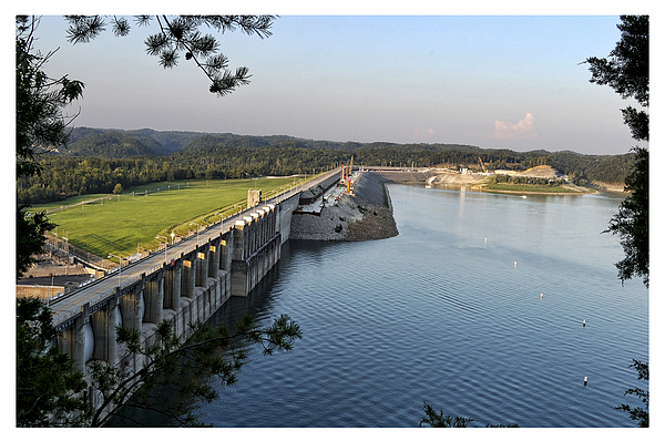 Wolf Creek Dam Print by Amber Flowers