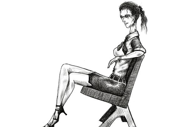 Woman On Bench Print by Sasank Gopinathan