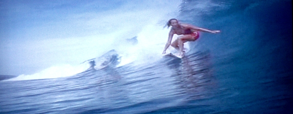 Woman Surfer Print by Stanley Morganstein