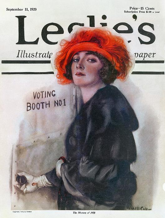 Women Voting, 1920 Print by Granger