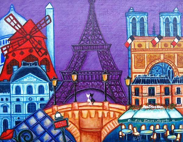 Wonders Of Paris Print by Lisa  Lorenz