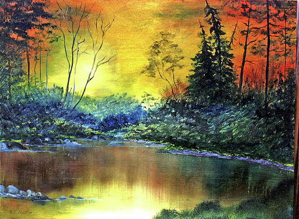Wooded Serenity Print by Dee Flouton