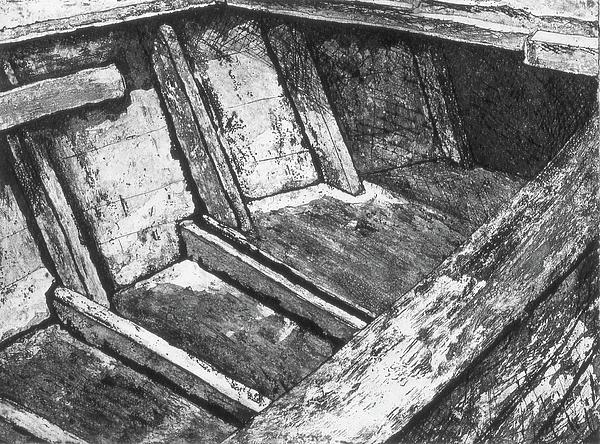 Wooden Boat Print by Julie Dalton Gourgues