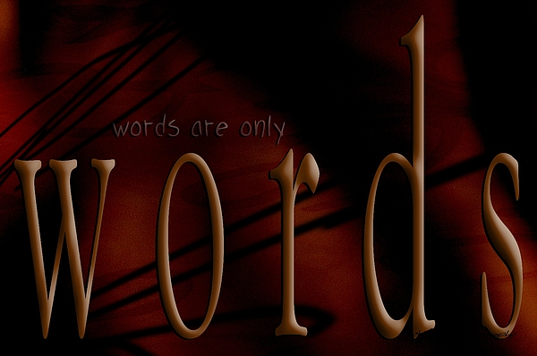 Words Are Only Words 5 Print by Vicki Ferrari