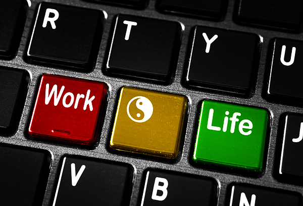 Work Life Balance Print by Blink Images