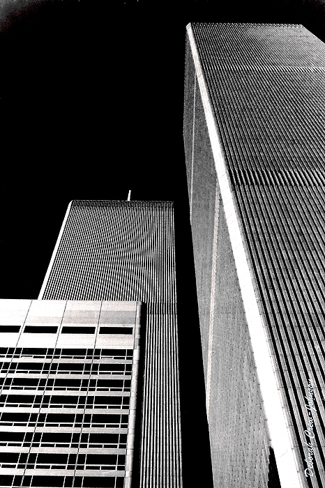 World Trade Center Pillars Print by Deborah  Crew-Johnson