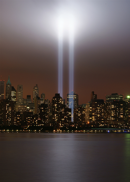 World Trade Center Tribute In Light Print by Greg Adams Photography