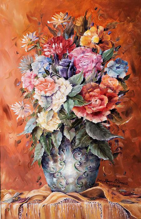 Wrapped In Flowers Print by Ellen Lerner ODonnell