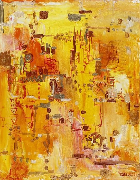 Yellow Conundrum Print by Regina Valluzzi