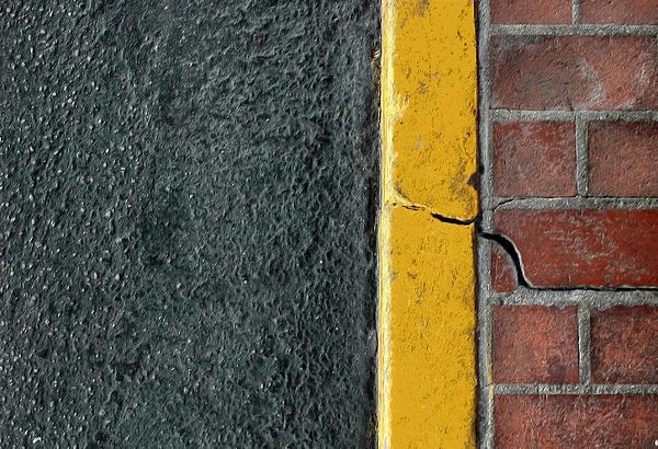 Yellow Curb Print by Dan Holm