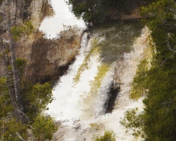Yellowstone Falls Print by Jo-Anne Gazo-McKim
