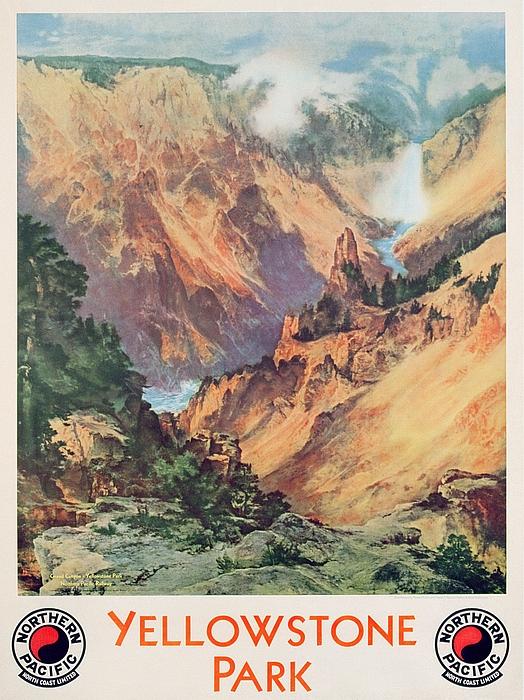 Yellowstone Park Print by Thomas Moran