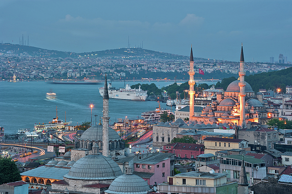 Yeni Camii Print by Salvator Barki