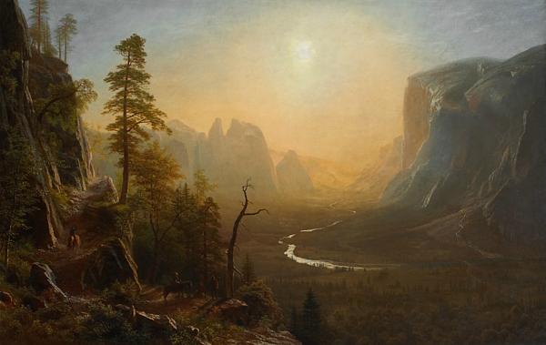 Albert Bierstadt - Yosemite Valley Glacier Point Trail