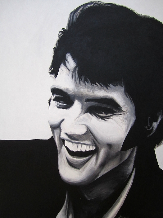 Young Elvis Print by Ashley Price