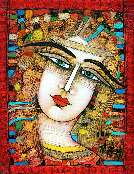 Young Girl Print by Albena Vatcheva