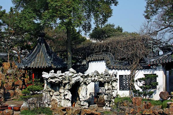Yu Yuan Garden Shanghai Print by Christine Till