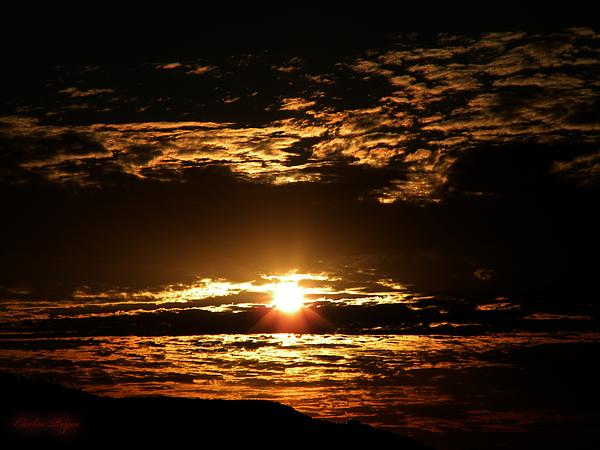 Yucca Valley Desert Sunrise Print by Carlos Reyes