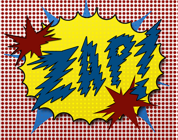 Zap Pop Art Print by Suzanne Barber