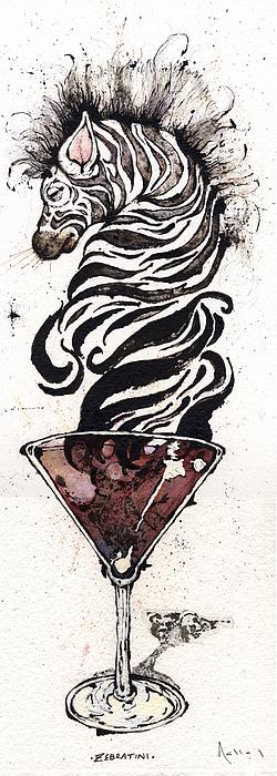 Zebratini Print by Mark M  Mellon