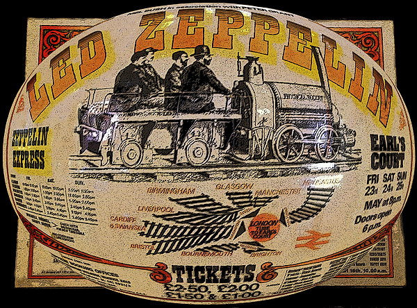 Zeppelin Express Work B Print by David Lee Thompson