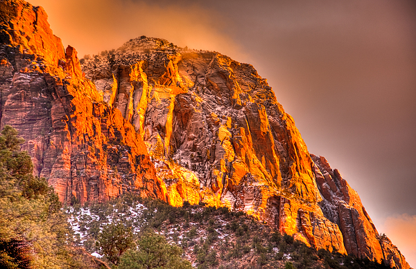 Zion's Fire I Print by Irene Abdou